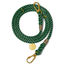 Load image into Gallery viewer, Hunter Green Rope Dog Leash, Adjustable