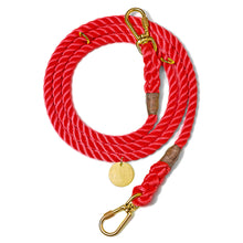 Load image into Gallery viewer, Red Rope Dog Leash, Adjustable