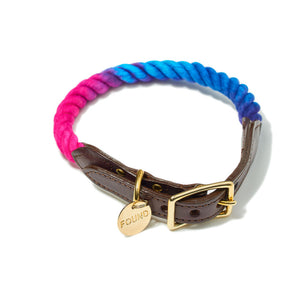 Dark Multi Ombre Rope Cat & Dog Collar