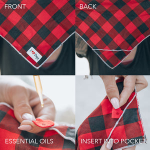 Checker Board Calming Aromatherapy Bandana