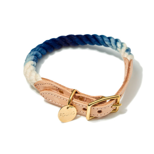 Indigo Ombre Rope Cat & Dog Collar