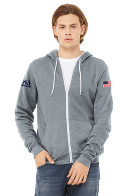 BELLA+CANVAS ® Unisex Sponge Fleece Full-Zip Hoodie ATHLETIC HEATHER