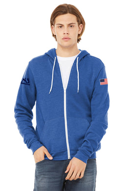 BELLA+CANVAS ® Unisex Sponge Fleece Full-Zip Hoodie ROYAL HEATHER