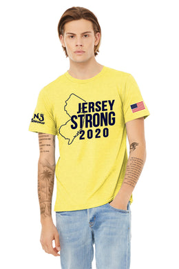 BELLA+CANVAS ® Unisex Heather CVC Short Sleeve Tee YELLOW (STATE)