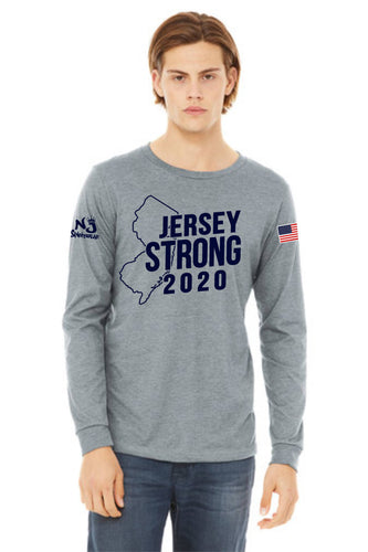 BELLA+CANVAS ® Unisex Jersey Long Sleeve Tee ATHLETIC HEATHER (STATE)