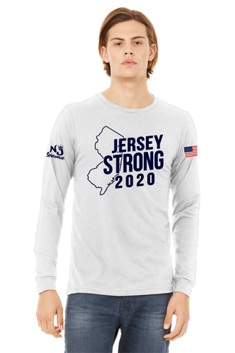 BELLA+CANVAS ® Unisex Jersey Long Sleeve Tee WHITE STATE