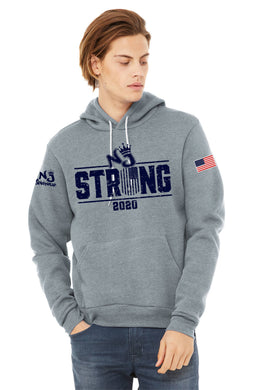 BELLA+CANVAS ® Unisex Sponge Fleece Pullover Hoodie ATHLETIC HEATHER NJ
