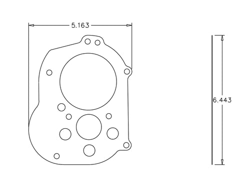 00039486 GASKET transmission to inner primary