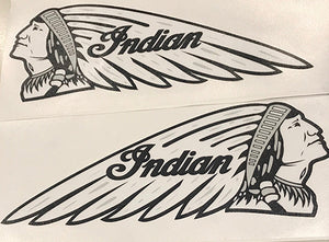 DECAL WARBONNET WHITE BLACK