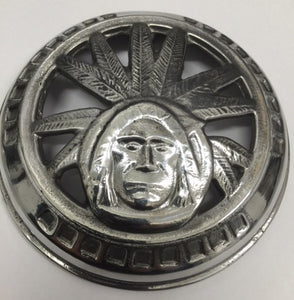 100728 CHIEF HORN FACE PRESSED CHROMED USA MADE