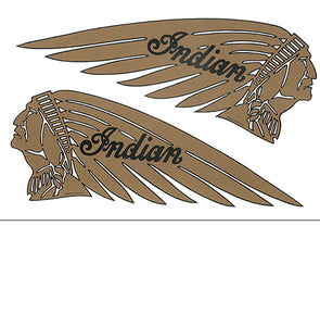 DECAL WARBONNET GOLD BLACK PVC