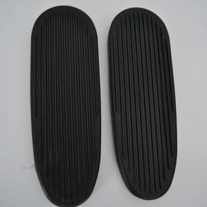 00075493 Footboard pair Rubber covered