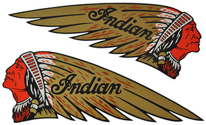 JG-2134 DECAL WARBONNET GOLD RED