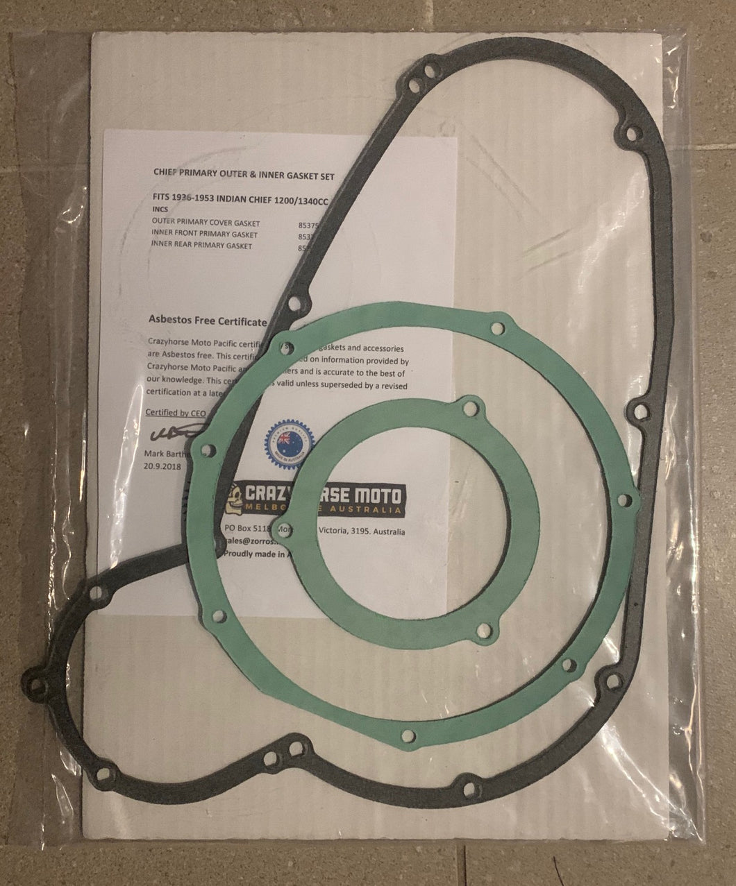 JGI 85375 GASKET SET IN/OUT PRIMARY CHF