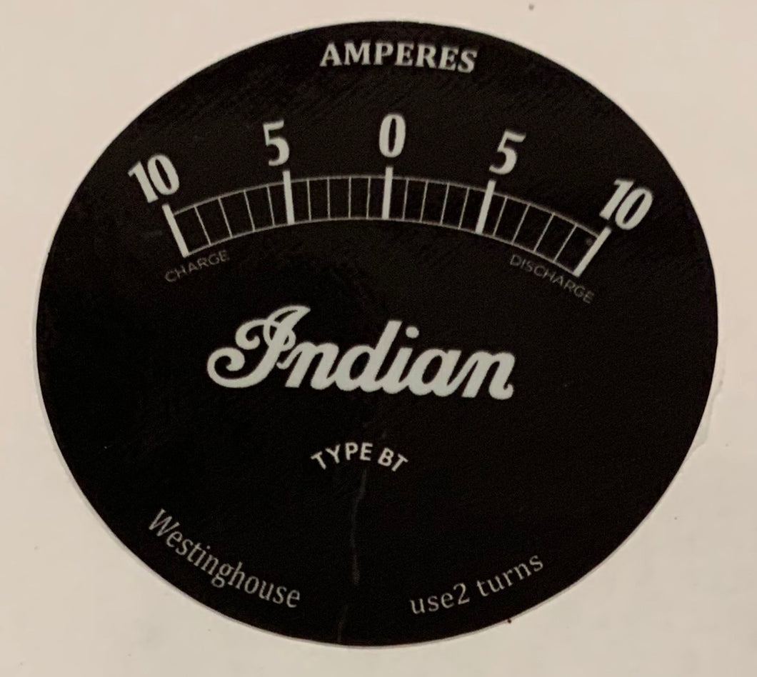 S6860Y Ammeter decal Only 10A Westinghouse 28-34