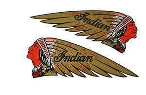 DECAL WARBONNET GOLD/RED PVC