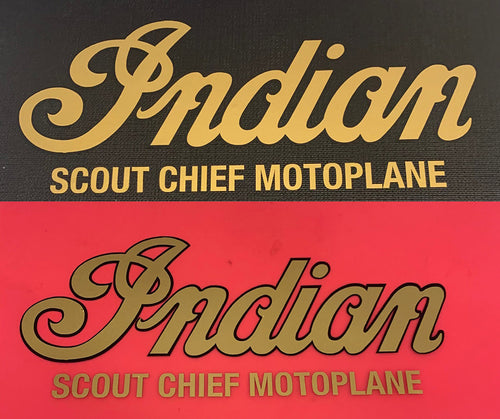 Decal Indian Scout Chief Motoplane