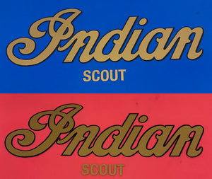 Decal Indian Scout 9 wide