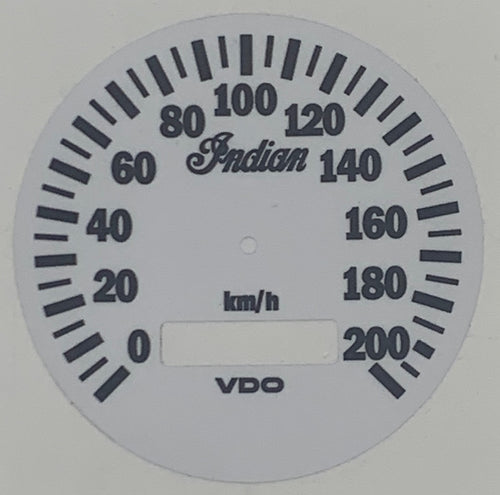 Decal Gilroy Speedometer kph