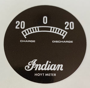 168002 20A Ammeter Face Decal