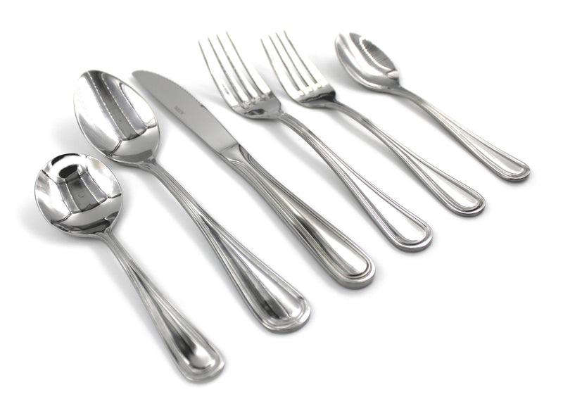 Stainless Steel Flatware Silverware Set of 4 Servings - 24pcs