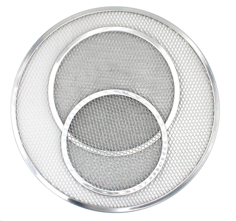 Aluminum Pizza Screen Set of 3 8-inch, 10-inch & 16-inch