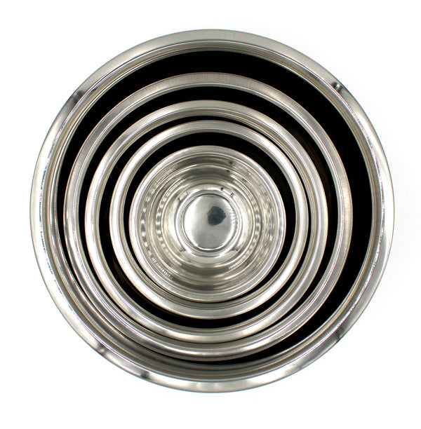 Stainless Steel Mixing Bowl Ecofriendly Set of 5 Includes 0.75 qt, 1.5 qt, 3 qt, 5 qt, 8 qt.