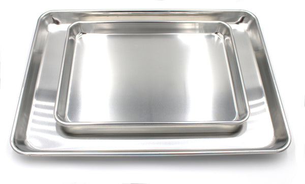 Aluminum Baking Sheet Half Size & Quarter Size Set of 2