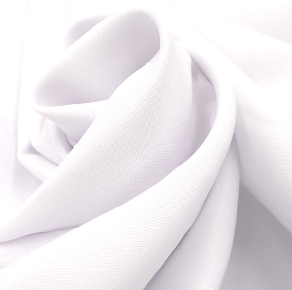 "54"" x 96"" Tablecloth White 100% Polyester Hemmed for Stain Resistant & Wrinkle free for a Professional Look"