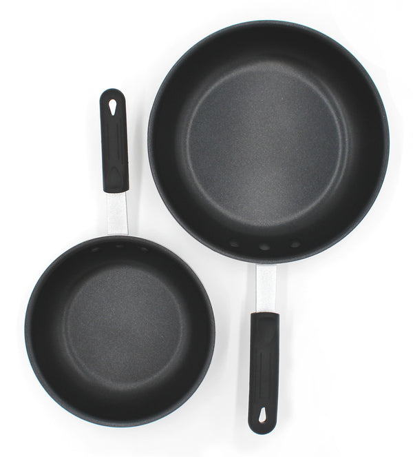 Aluminum Non-Stick Fry Pan with Silicone Handle 8-inch & 10-inch