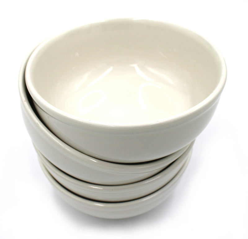 15 oz. Ivory Round Edge Bowls with Chip&Scratch Resistant - Set of 4