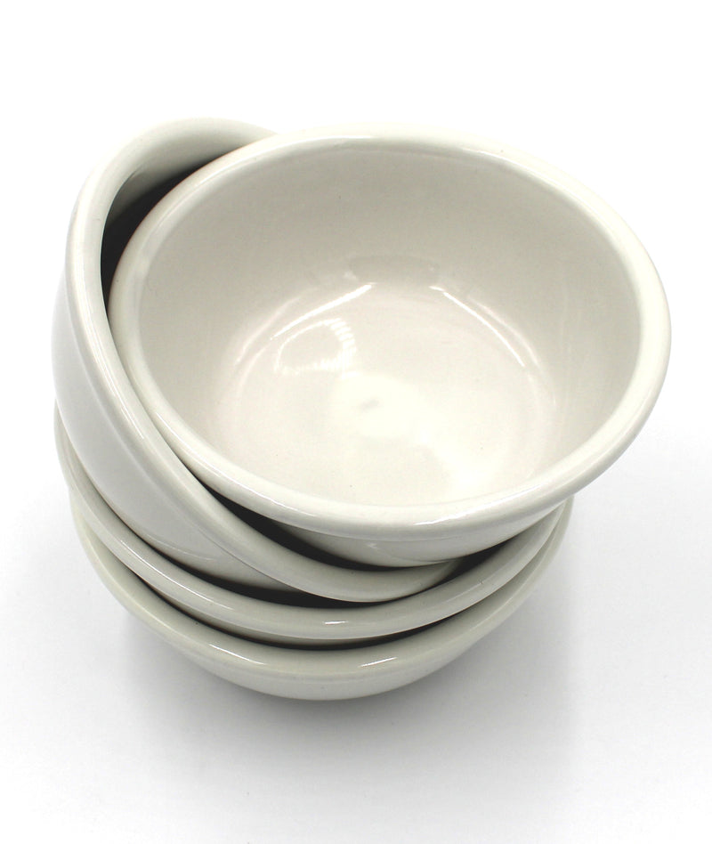 10 oz. Ivory Round Edge Bowls with Chip & Scratch Resistant - Set of 4