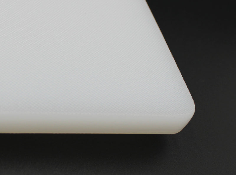 "White Plastic Cutting Board 20"" x 15"" 1/2 Thickness NFS Approved"