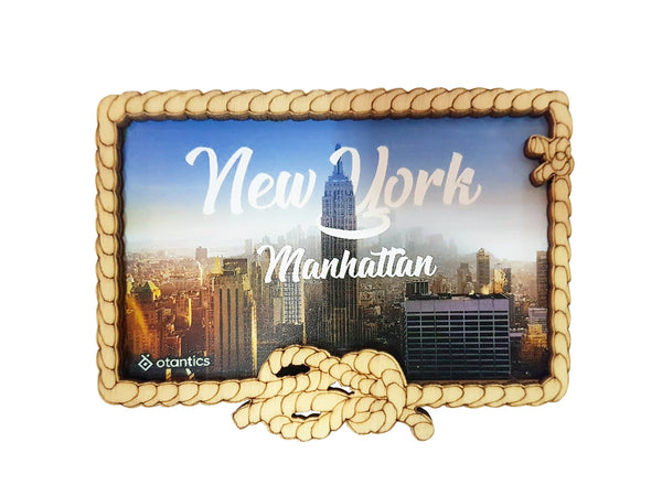 Premium Otantics Wood Frame New York Magnet