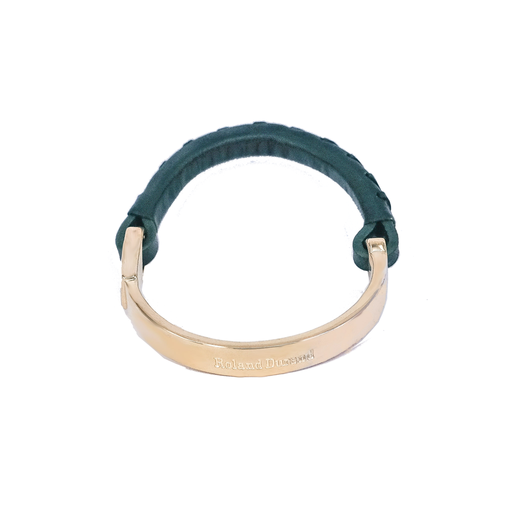 Bracelet | Racing Green & Gold - Roland Durand Stockholm