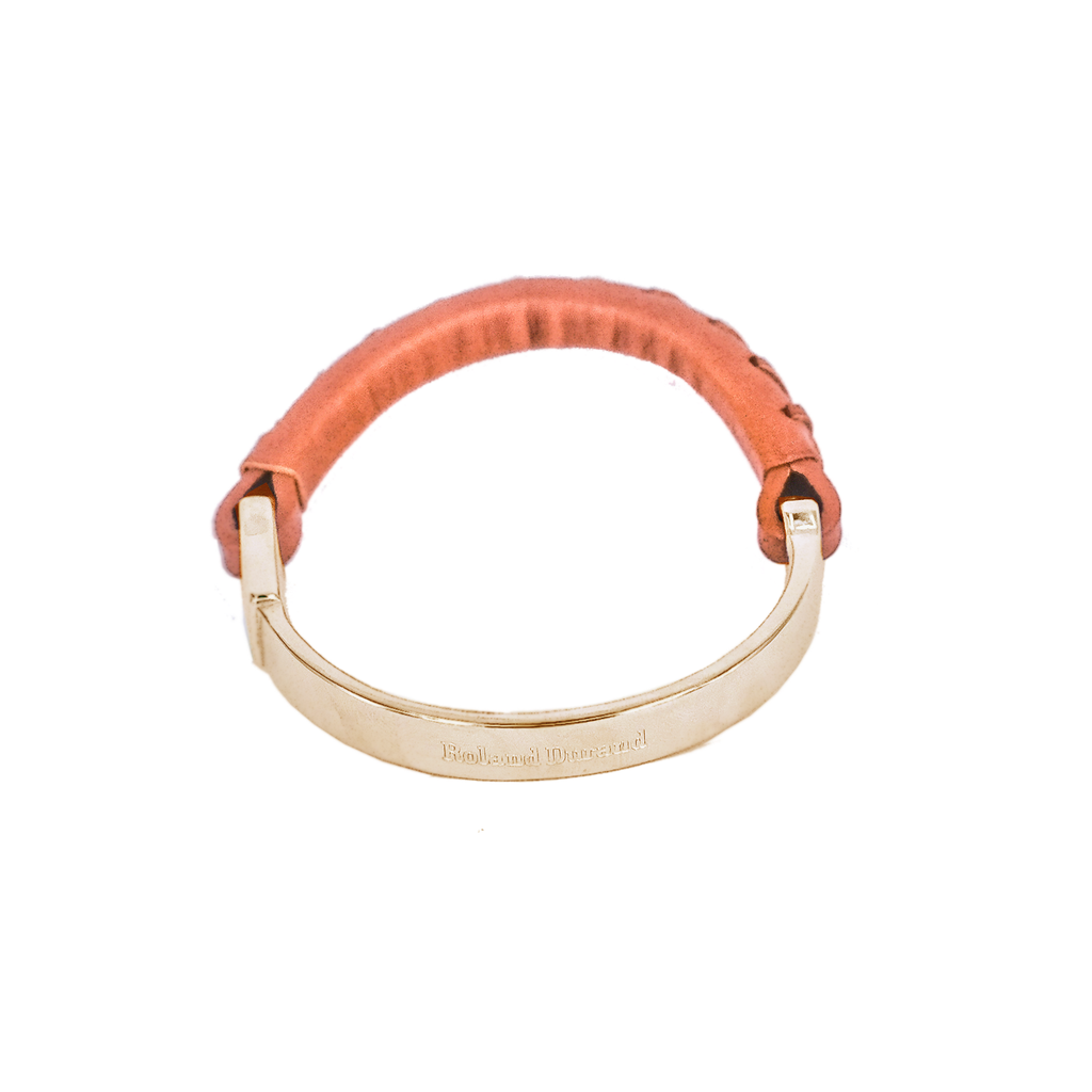 Bracelet | Tobacco Brown & Gold - Roland Durand Stockholm