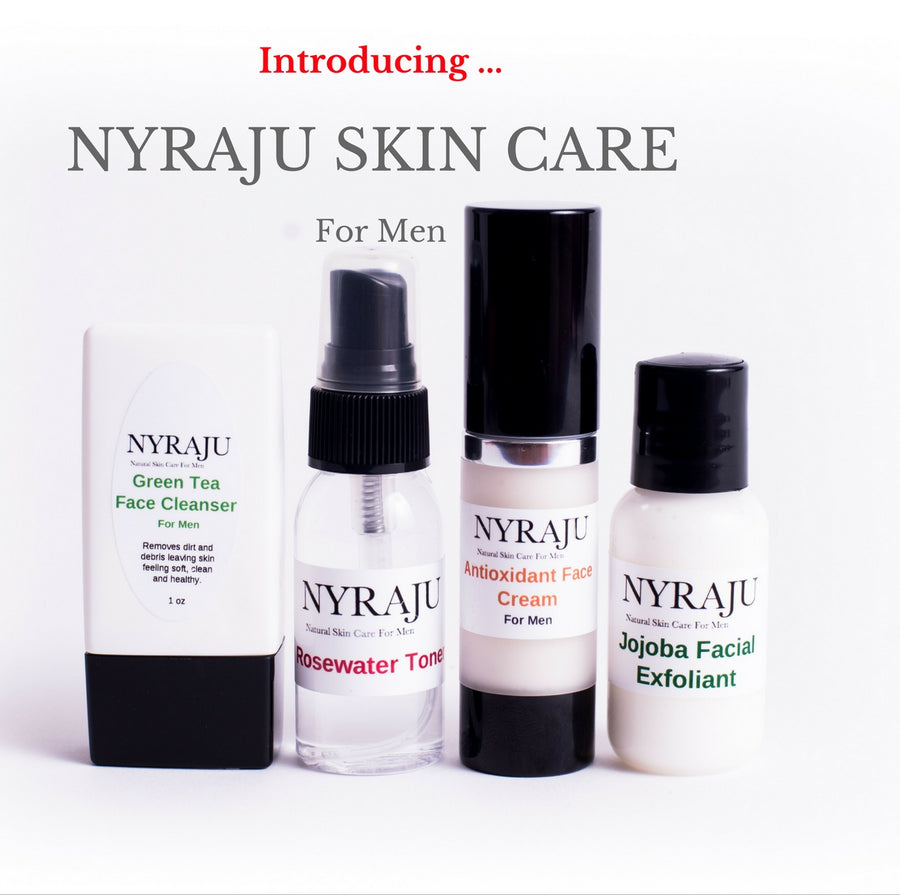 Natural Black Skin Care Sample Kit for Men