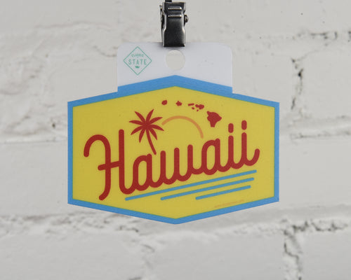 Hawaii Script Sticker