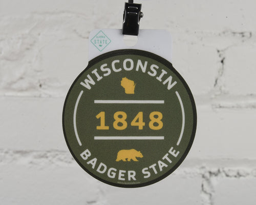 Wisconsin 1848 Decal Sticker
