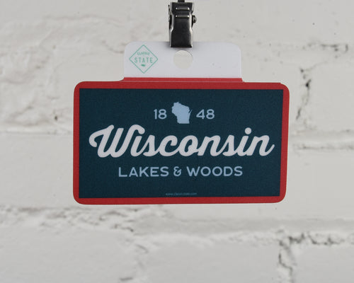 Wisconsin Lakes & Woods Sticker