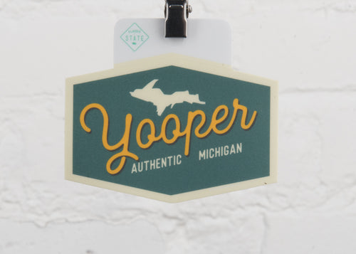 Michigan Yooper Hexagon Sticker