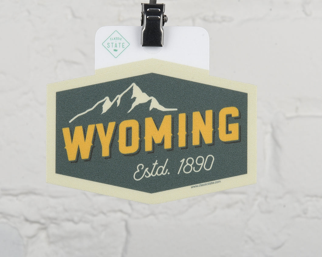 Wyoming Mt Peak Sticker