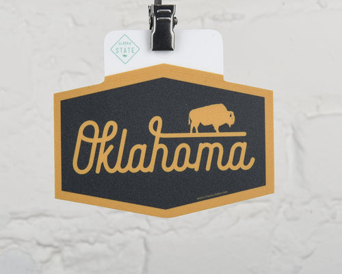 Oklahoma Buffalo Script Sticker