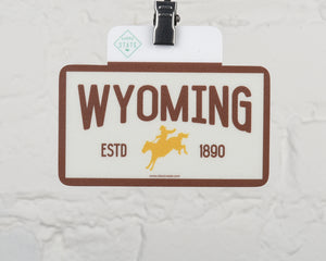 Wyoming Cowboy Sticker