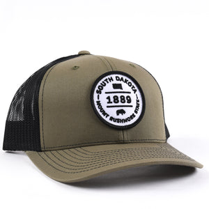 South Dakota 1889 Snapback Hat Classic State
