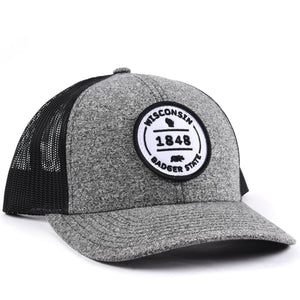 Wisconsin 1848 Snapback Hat Classic State