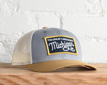 Load image into Gallery viewer, Michigan Script Snapback