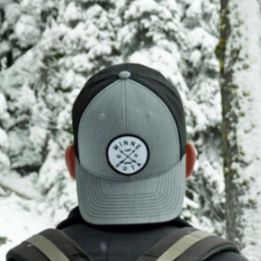 Grey/Black Mesh Snapback with Loon Logo
