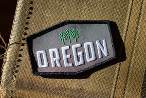 Oregon Trees Hexagon Patch