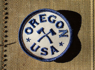 Oregon Axe Circle Patch